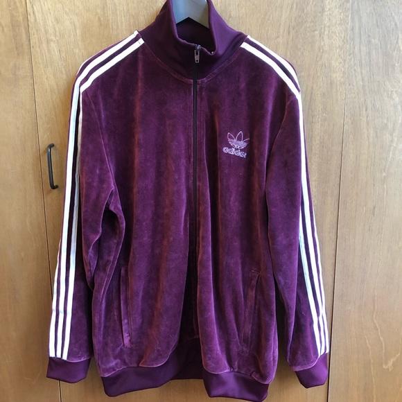 Adidas Originals Velour BB Track Jacket, Black